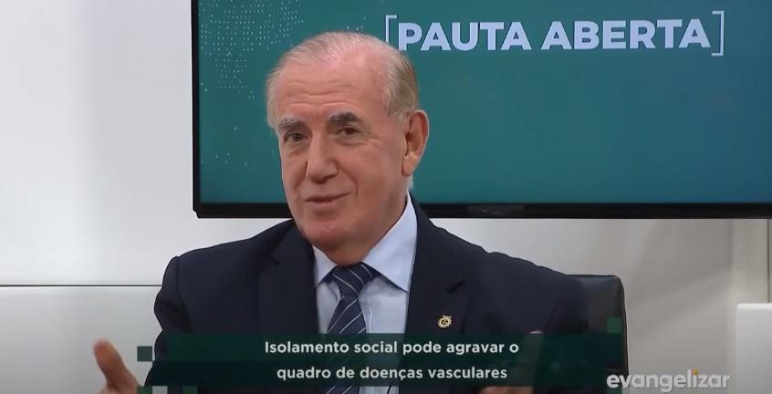 Confira: Entrevista na TV Evangelizar sobre isolamento social e problemas vasculares